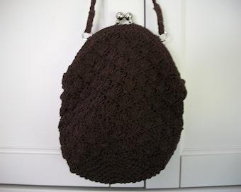 Brown Handbag Purse with Shoulder Strap