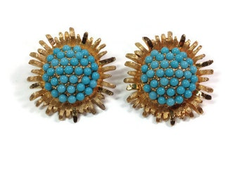 B.S.K. Faux Turquoise Earrings