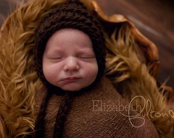 Newborn Baby Boy Pixie Hat,  Newborn Boy Photo Prop,  Baby Boy Pixie Bonnet; Chunky Newborn Bonnet, Newborn Photography Props, Baby Bonnets