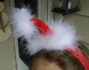 Gabersfashionbows Custom Boutique SANTA HAT Headband