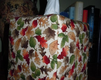 Ready To Ship - Fall Leaves2    - Tissue Box Cover