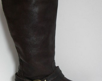 FRYE Maxine Harness Dark Brown Tall Boots, 9.5M, Free shipping