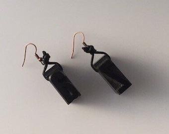 Earrings-Print press A to Z Vintage letter earrings