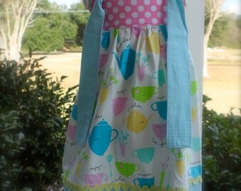 Boutique Knot Dress, Ready to ship size 3T, LAST ONE, Easter dress, spring dress