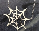Spider Web Necklace by Kim Lugar