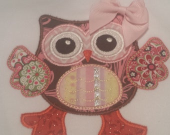 Dancing Owl Applique