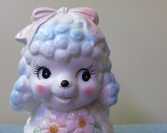 Baby Lamb Nursey Planter - Blue and Pink Big Eyes Adorable!