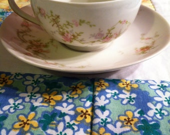 Vintage Theodore Haviland Limoges 2 Piece Tea Cup Set Dainty Pink Floral Made in France #2001