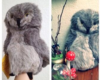 Vintage Tawny Grey Owl Hand Puppet