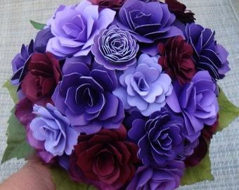 Paper  Flower Summer  Wedding Bouquet /Bridesmaids/ Rehearsal bouquet / Toss Bouquet  7 to 8 inch