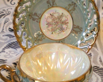 Vintage Royal Sealy 3 Footed Cup and Saucer***Beautiful!!***