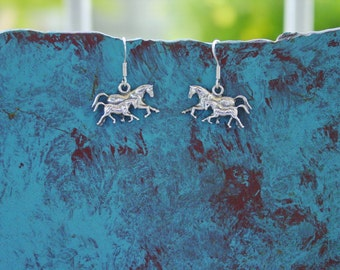 Mare and Foal Horse Earrings Sterling Silver,Equestrian Earrings,Horse Jewelry