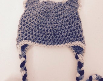 Adult Size Grey Wolf Hat