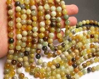 New Jade 8 mm round - A quality - 48 beads per strand -  1 full strand - RFG80