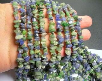 Tanzanite gemstone - chip stone bead - 36 inch strand - genuine Blue and green tanzanite gemstone - PSC61