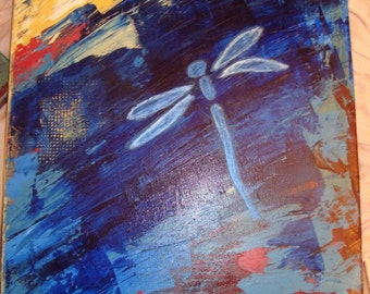 Acrylic dragonfly painting