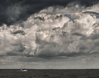 Heavy clouds above the North Sea - Fine Art Landscape Photography Print