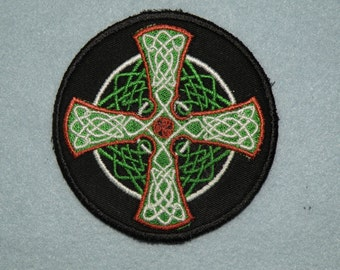Celtic Cross Iron on Patch small