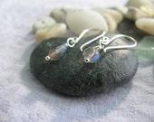 Labradorite Teardrop Earrings on Argentium Silver. Bali 2010