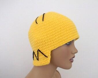 Crochet Homer Simpson Hat-crochet Homer simpson wig-Halloween Costume Ideas-night costumes