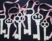 Alice in Wonderland Party Decoration Prop- 6 Large  Intricate Skeleton Keys