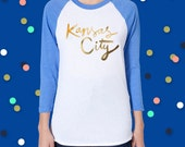 Kansas City Gold Foil Baseball Tee - Promo