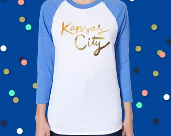 Kansas City Gold Foil Baseball Tee - X-Large