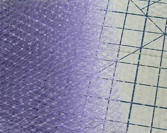 lavender veil - purple birdcage veil - hat making veil