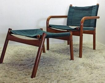 Mid Century Modern Danish Modern Teak Bernstorffsminde Møbelfabrik Lounge Chair