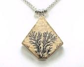 Rare Dendritic Psilomelane Sterling Silver Pendant - N781