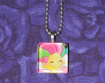 ZELFS Tropical Elfa  glass tile necklace