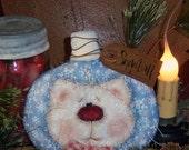 Patti's Ratties Primitive Christmas Kitty Cat Ornie Doll Pattern #399