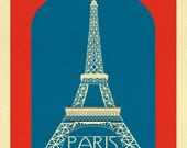 Paris Print, Eiffel Tower Print, Paris France Wall Art, French Decor, French Nursery, France Art, Paris Eiffel Tower Print - style E8-O-SP1