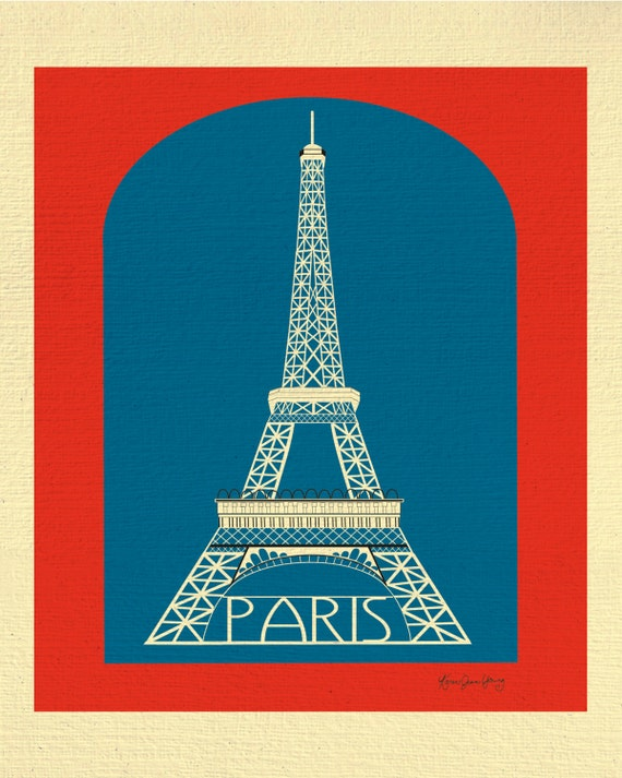 Paris Print, Eiffel Tower Print, Paris France Wall Art, French Decor, French Nursery, France Art, Paris Eiffel Tower Print - style E8-O-SP1