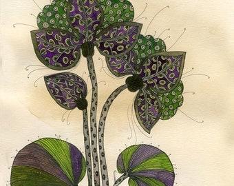 Flower  - Watercolor - Original Illustration - Original Painting