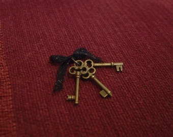Dollhouse keys wall art French Country Chic miniature one inch scale 1:12