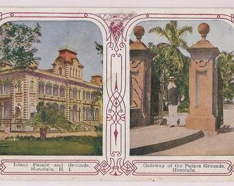 Hawaii Postcard Honolulu Iolani Palace Antique Card
