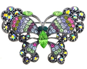 Multicolor Butterfly Brooch Pin 1010272