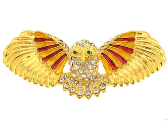 Golden Owl Brooch Pin 1012052