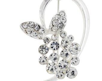Crystal butterfly Pin brooch 1004142