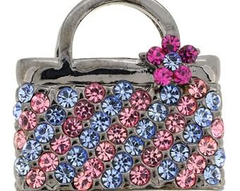 Lady Handbag Swarovski Crystal Pin Brooch 1013062