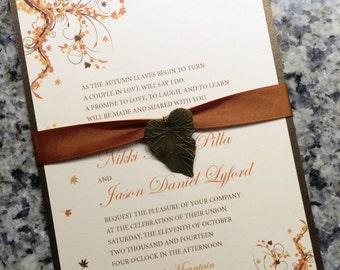 Elegant Fall Wedding Invitation