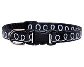 "Cat Collar - ""The Freestyler - Black with Modern Print"