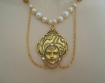 Gypsy Necklace, gypsy jewelry boho jewelry bohemian jewelry hippie jewelry moroccan jewelry hipster tribal ethnic new age boho necklace