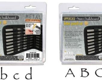 Metal Stamp Set-Metal Stamping Kit in Chalkboard (Papyrus) Font Combo-Lowercase/Uppercase Alphabet Metal Stamp Set-3mm by Metal Supply Chick
