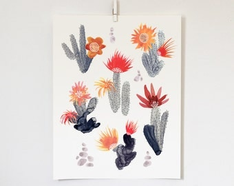 Cacti and Cairns, 11x14 print