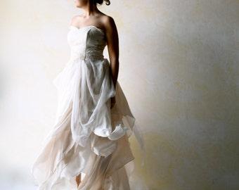 Boho Wedding Dress, Bridal gown, Alternative Wedding Dress, Ballgown dress, Fairy wedding dress, Romantic dress, Backless wedding dress