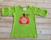 Fancy Monogrammed Pumpkin Shirt