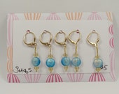 Gold Clasp Stitch Markers - Set of 5