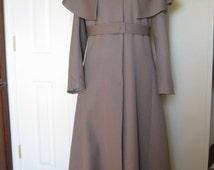 Women's Wool Gabardine Coat with cape 14
